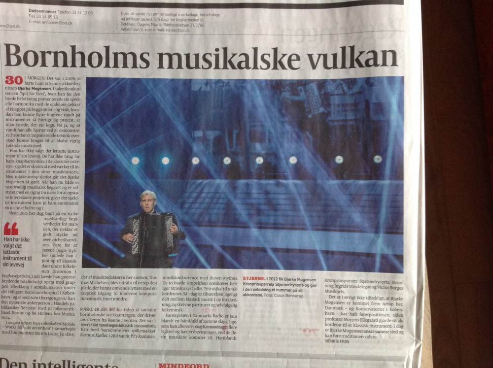 30th anniversary in Danish National Press