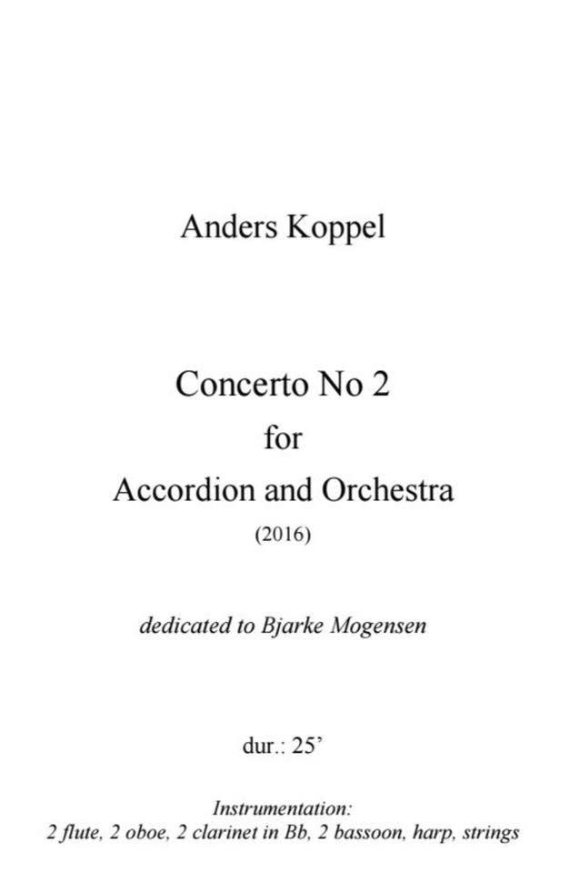 Anders Koppel 71 – 2nd Accordion Concerto world premiere